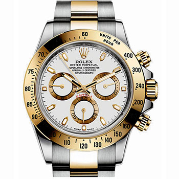 Rolex Cosmograph Daytona Oyster 40 mm Steel and Yellow Gold